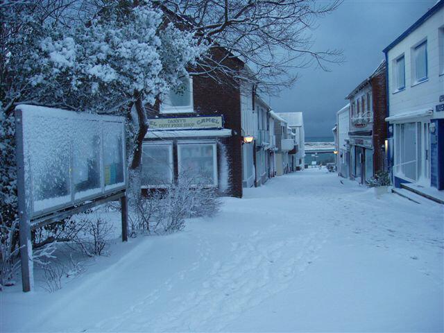 Helgoland im Schnee/Steanaker