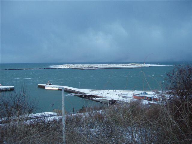 Helgoland im Schnee/Düne