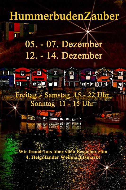 Das Poster f�r den Hummerbudenzauber 2014 von 5. bis 7. und 12. bis 14 Dezember.