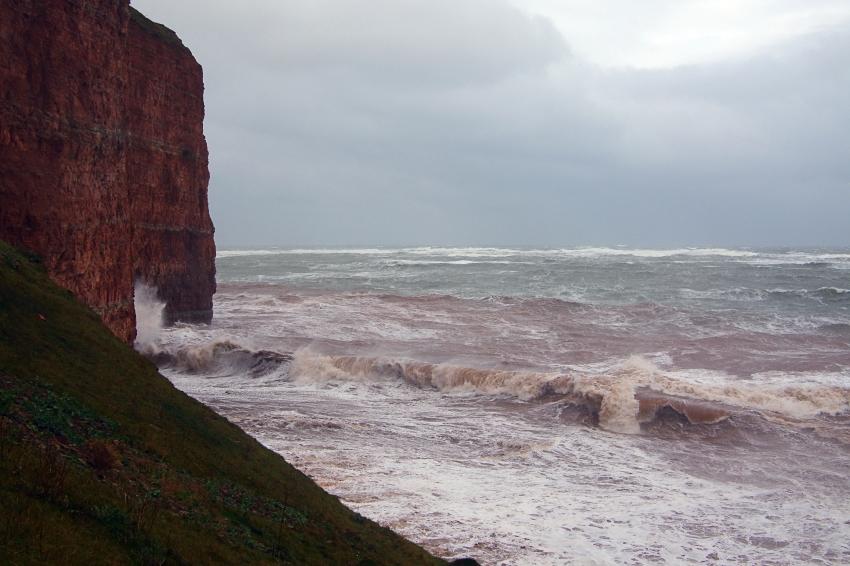 Sturmbilder vom Sturm am 22.10.2014 auf Helgoland.