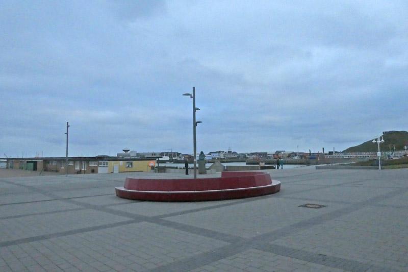 Der Nordseeplatz auf Helgoland.