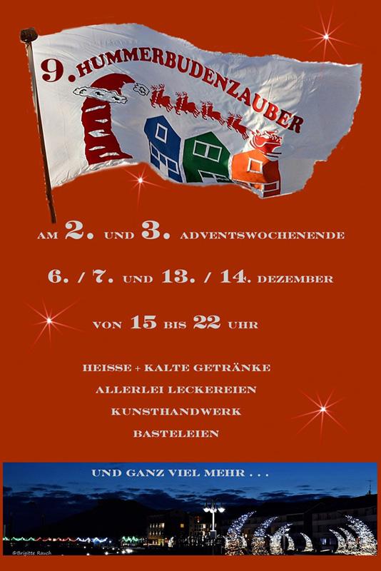 Informationsposter zum Hummerbudenzauber auf Helgoland.