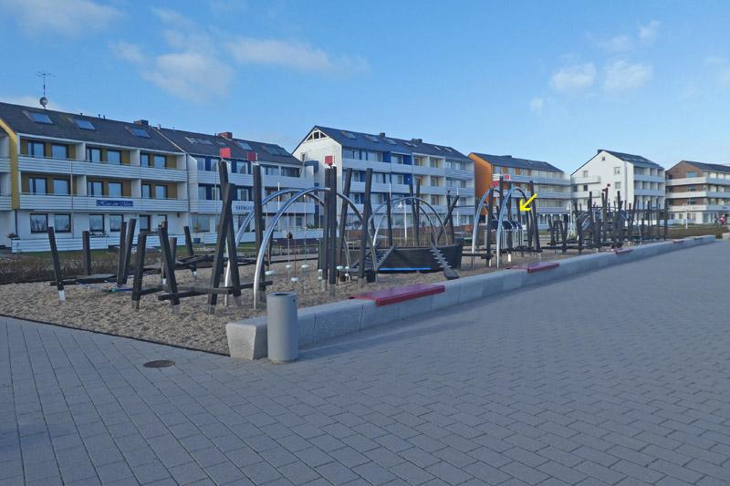 Spielplatz am Südstrand Helgolands.
