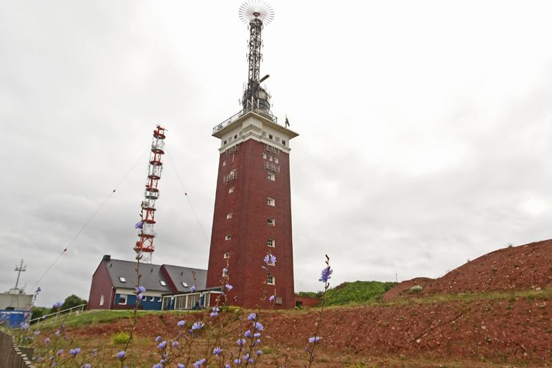 Der Helgoländer Leuchtturm.